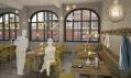 Nový berlínský Michelberger Hotel na vizualizacích