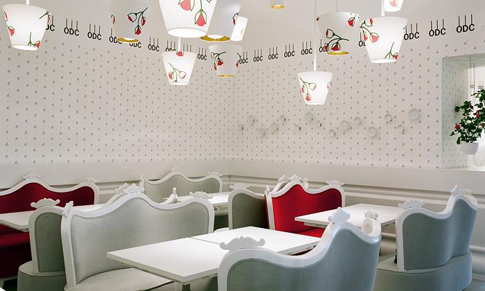 Restauraci Orlando di Castello tvoří směs třech stylů