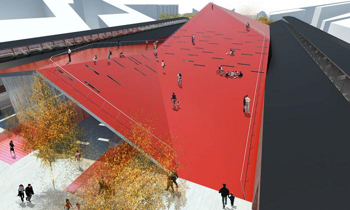 Aarhus postaví rozlámané kulturní centrum od3XN
