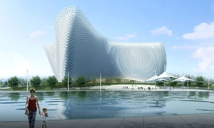 Zhoushan vČíně začíná stavět operu vpodobě moře