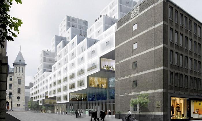Rotterdam si poskládá radnici zkostek podle OMA