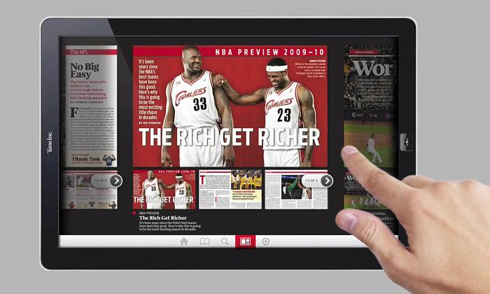 Time Inc. představil tablet místo tištěných časopisů