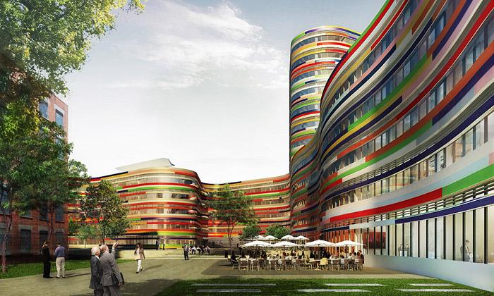 Hamburk postaví ministerstvo sezvlněnou fasádou