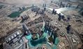 Pohled z nejvyššího bodu mrakodrapu Burj Dubai