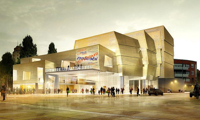 Dunkerque postaví nové zlatavé divadlo odMikou