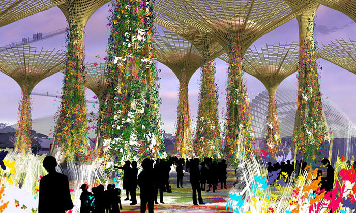 Singapur veměstě staví největší zahrady nasvětě