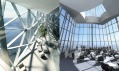 Interiér Okhta Center v Petrohradu od RMJM