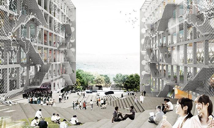 OMA postaví Hongkongu síťovanou Chu Hai College