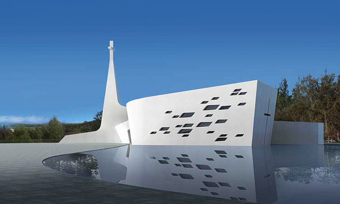 Ordos postaví kostel protestantů jako bílou holubici