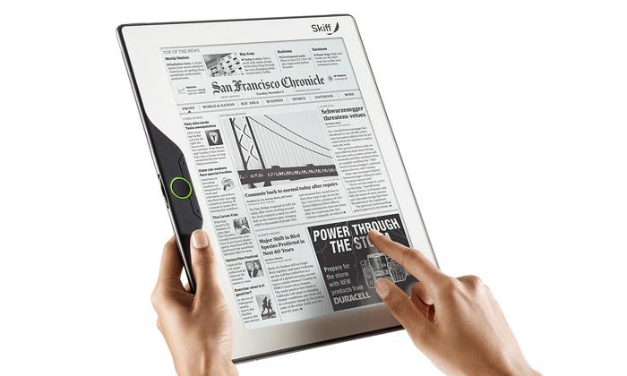 Tenká čtečka knih Skiff Reader má velký e-papír