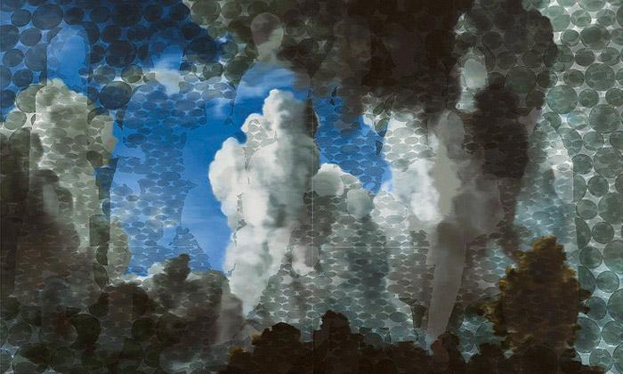 Toby Ziegler vystavuje abstraktní obrazy plné lidí