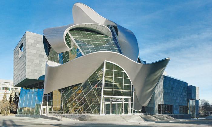 Edmonton otevřel zkroucenou Art Gallery of Alberta