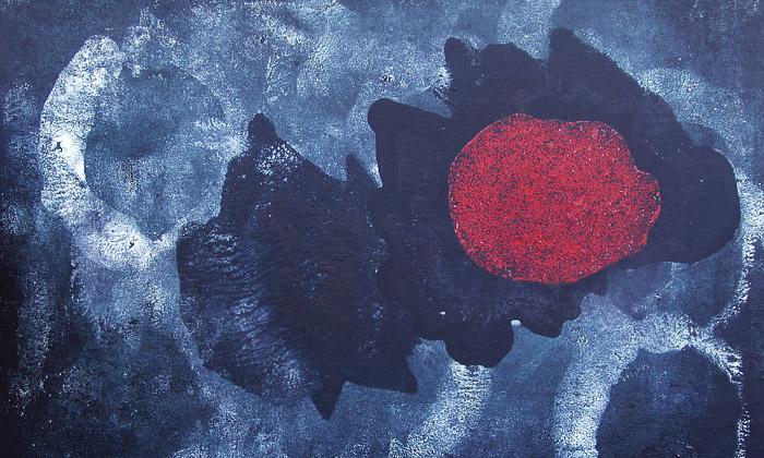Patrik Hábl vystavuje abstraktní malbu Avoid avoid
