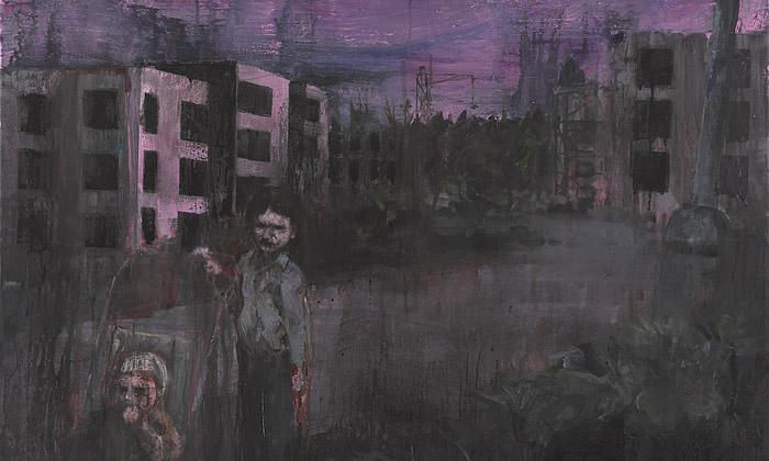 Josef Bolf vystavuje vPraze temná hororová plátna