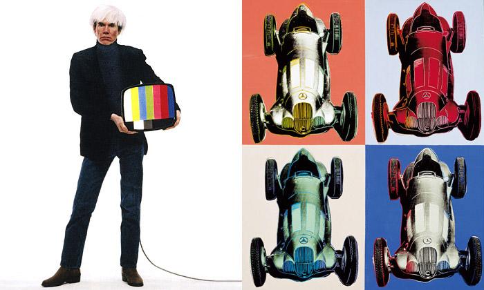 Andy Warhol navýstavě veVídni smasmédii aauty