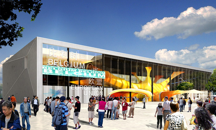 Belgický pavilon naExpo 2010 má vstup zneuronu