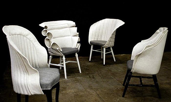 Fredrik Färg obléká staré židle vmódní RE:cover
