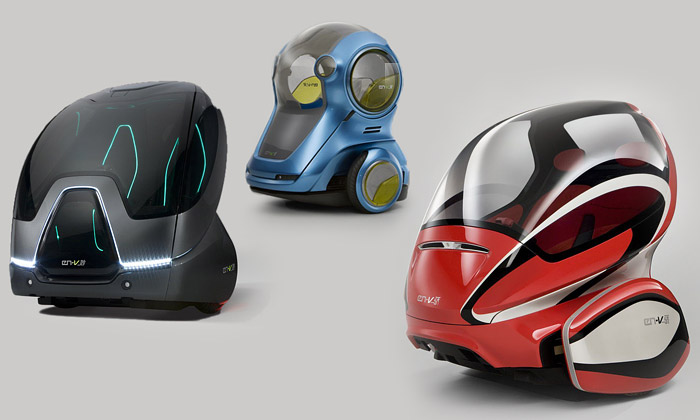 Představen koncept tří vozů GM EN-V pro Expo 2010