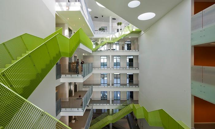 Innovation Park vDánsku postaven vzelené spirále