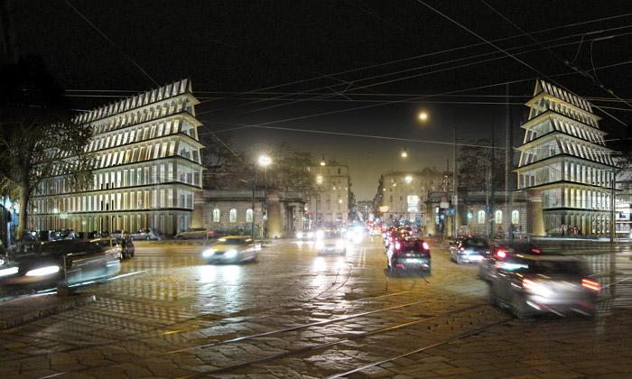 Herzog & de Meuron postaví Milánu dvojčata ze skla