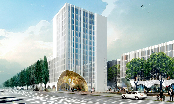 Mnichov postaví vykousaný hotel Schwabinger Tor