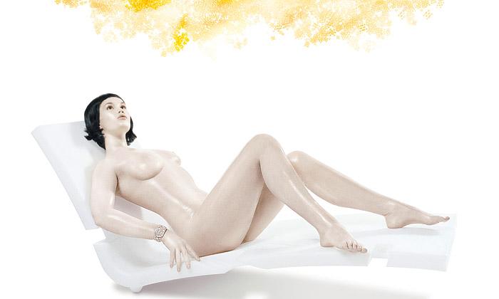 Dokonalá nahá těla navýstavě Bionický anděl