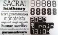 Ukázka z výstavy Dizajn písma NL/SK v Bratislavě