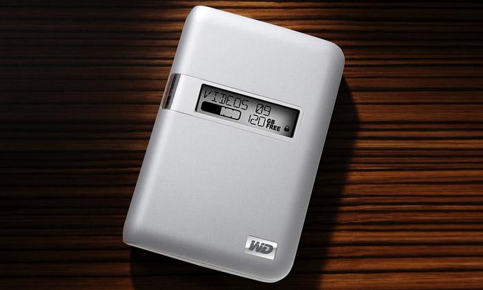 Western Digital má externí disk sdisplejem pro Mac