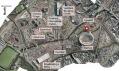 Mapa umístění věže ArcelorMittal Orbit v olympijském parku