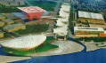 Střed výstavních prostor Expo 2010 velkých více jak 5 kilometrů čtverečných