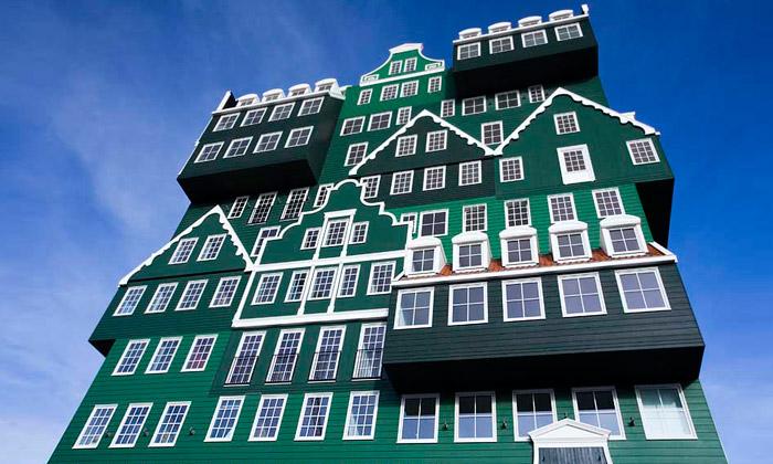 Inntel Hotel Zandaam poskládán ztradičních domů