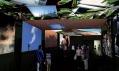 Interiér japonského pavilonu na Expo 2010 rozdělený do tří zón