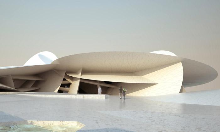 Jean Nouvel navrhl Muzeum Katar jako písečná růže