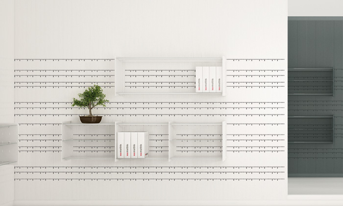 Jean Nouvel navrh pro Methis systém stěn Hook