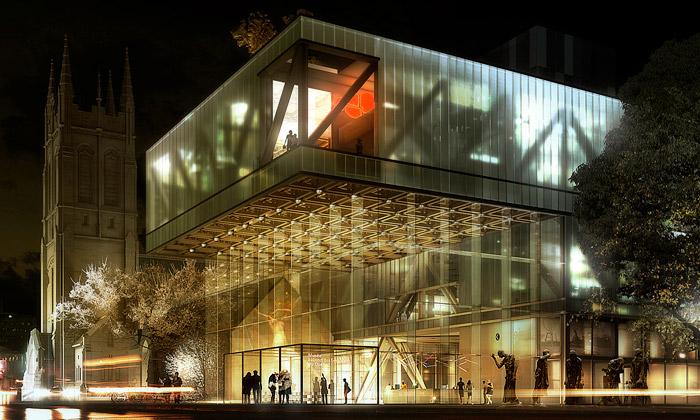 OMA nově rozšíří třemi kvádry muzeum vQuébecu