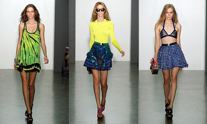 Proenza Schouler má jaro plné barev avzorů batiky
