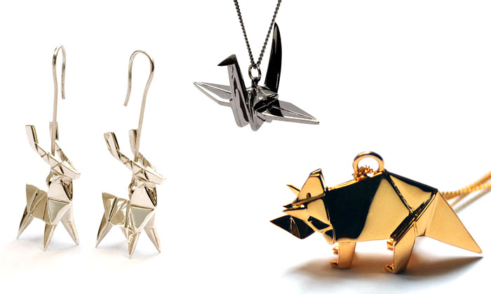 Claire & Arnaud tvoří kovové šperky jako zorigami
