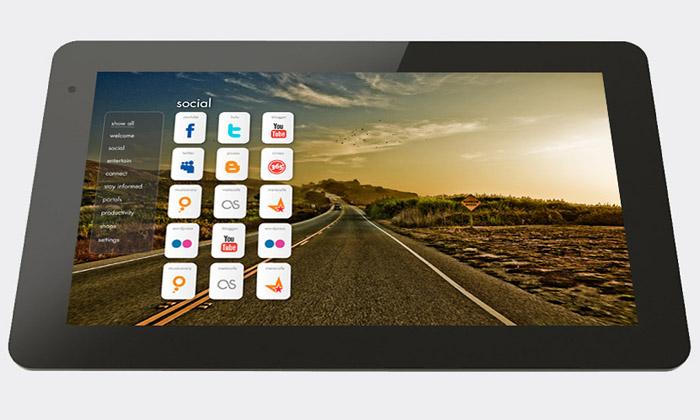 Širokoúhlý tablet JooJoo používá aplikace internetu