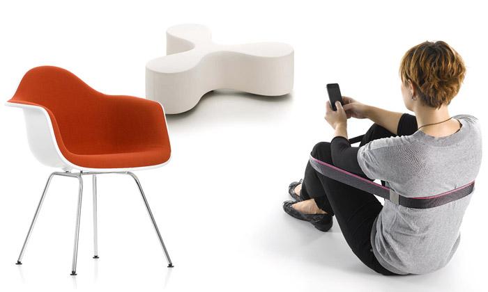 Vitra uvádí sedací popruh Chairless anový nábytek