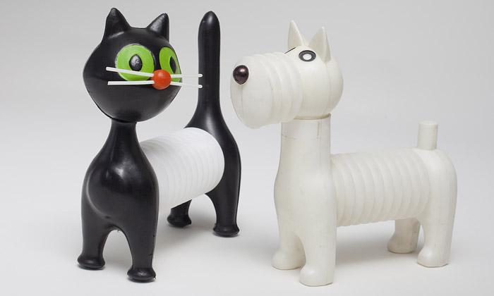 Nápadité retro hračky Libuše Niklové vystavuje UPM
