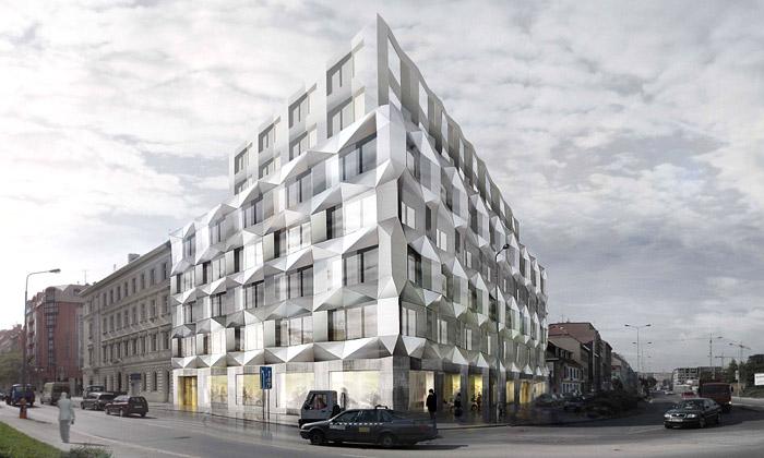 Karlín staví kubistický Keystone určený kancelářím