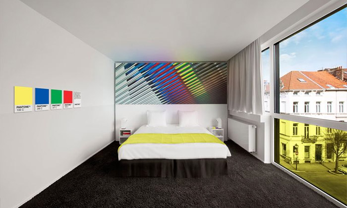 Brusel otevřel nový pestrobarevný Pantone Hotel