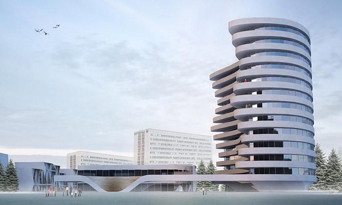 Švédské město Vällingby postaví vlnitý věžák od3XN