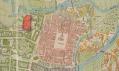 Divadlo Plzeň v zákresu mapy z roku 1908