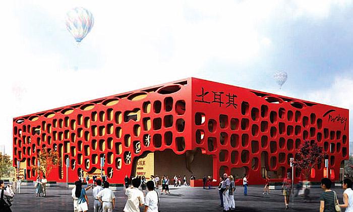 Turecký pavilon naExpo 2010 inspirován neolitem