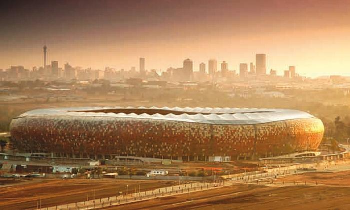 Staronový stadion Soccer City jenejvětším vAfrice