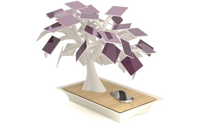 Vivien Muller navrhl malou solární bonsaj Electree