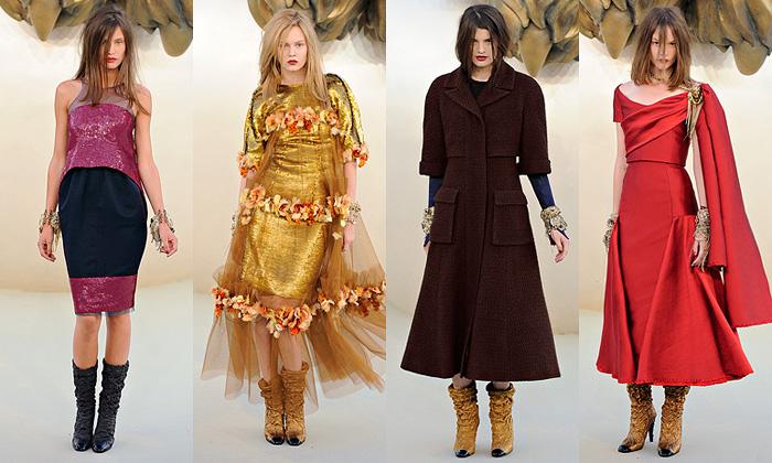 Chanel zasvětil zimní Haute Couture šatům skvěty