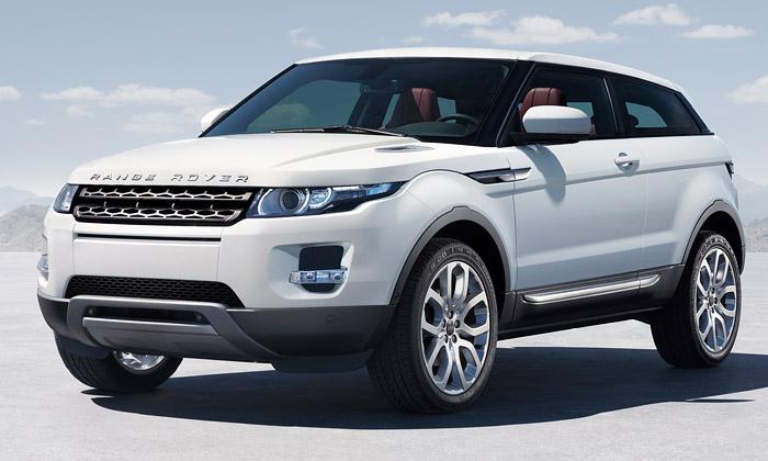 Range Rover Evoque jenový crossover sprvky kupé