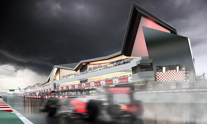 Závodní okruh Silverstone přestavuje Populous